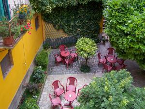 L'affaccio sul giardino interno